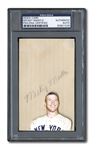 EARLY 1950S MICKEY MANTLE AUTOGRAPHED INDEX CARD - PSA/DNA AUTHENTIC