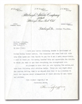 1922 BARNEY DREYFUSS TYPED SIGNED LETTER TO FRED CLARKE ON PITTSBURGH PIRATES LETTERHEAD