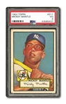 1952 TOPPS #311 MICKEY MANTLE PSA VG 3