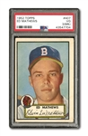 1952 TOPPS #407 ED MATHEWS ROOKIE PSA VG 3 (MK)