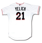 2014 CHRISTIAN YELICH AUTOGRAPHED MIAMI MARLINS GAME WORN HOME JERSEY FROM HIS 1ST FULL SEASON