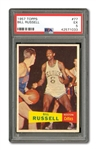 1957 TOPPS BASKETBALL #77 BILL RUSSELL ROOKIE PSA EX 5