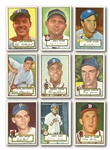 1952 TOPPS BASEBALL STARTER SET OF (127) DIFFERENT INCL. PSA GRADED #261 MAYS AND 17 HIGH #S