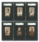1894 MAYOS CUT PLUG N302 FOOTBALL NEAR SET (29/35) WITH 28 SGC GRADED AND 1 PSA GRADED (TOP 10 RANKED)