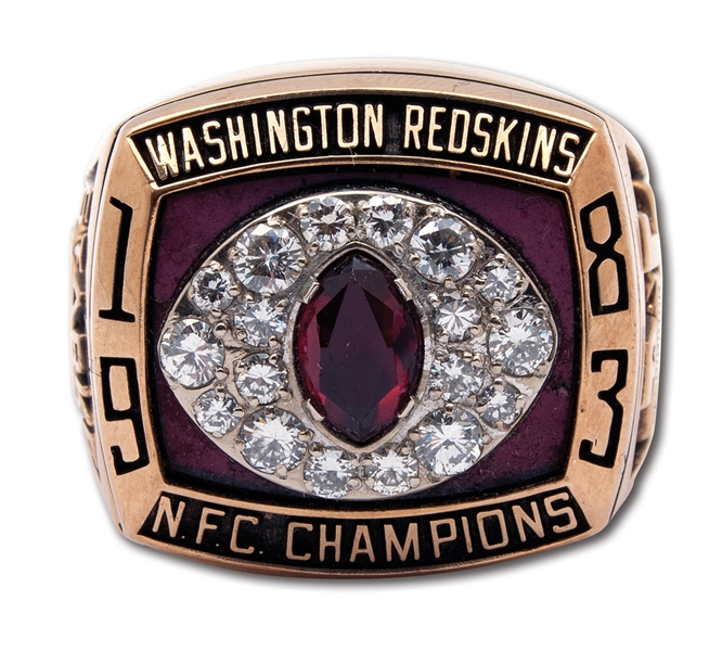 GEORGE STARKES 1983 WASHINGTON REDSKINS NFC CHAMPIONS 10K GOLD RING