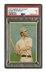 "1912 ""SERIES OF CHAMPIONS"" T227 HOME RUN BAKER (HONEST LONG CUT BACK) PSA VG 3"
