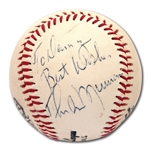 "THURMAN MUNSON SINGLE SIGNED BASEBALL PERSONALIZED ""TO DANNY"" (PSA/DNA GRADE 8 OVERALL)"
