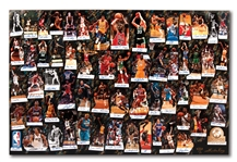 """LEGENDS OF BASKETBALL - WE MADE THIS GAME"" LIMITED EDITION ART COLLAGE WITH 61 AUTOGRAPHS INCL. JORDAN, LEBRON, KOBE, MAGIC, BIRD, RUSSELL, ETC. (SAM BATTISTONE COA)"