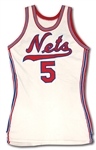 "1970-72 BILLY ""THE WHOPPER"" PAULTZ NEW YORK NETS (ABA) GAME WORN HOME JERSEY"