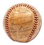 1943 NEW YORK YANKEES WORLD CHAMPIONS TEAM SIGNED BASEBALL