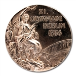 1936 BERLIN SUMMER OLYMPIC GAMES 2ND PLACE WINNERS SILVER MEDAL