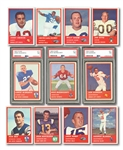 HIGH-GRADE 1963 FLEER FOOTBALL NEAR COMPLETE SET (87/88) INCL. ALWORTH, DAWSON & BUONICONTI ROOKIES (ALL PSA NM 7)