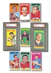 1965 TOPPS FOOTBALL COMPLETE SET OF (176) WITH NAMATH & BILETNIKOFF ROOKIES (BOTH PSA EX-MT 6)