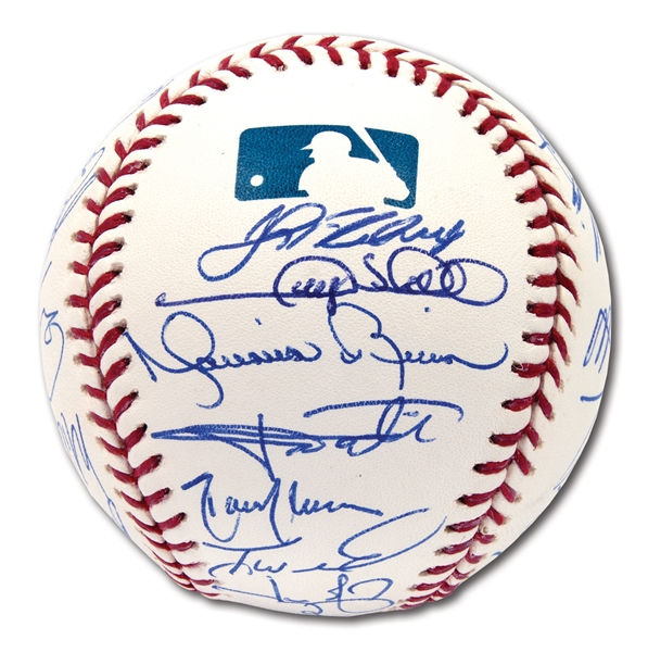 2005 NEW YORK YANKEES AMERICAN LEAGUE CHAMPIONS TEAM SIGNED BASEBALL