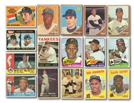 1950S-60S TOPPS (336) AND POST CEREAL (21) BASEBALL SHOEBOX COLLECTION INCL. HOFERS AND STARS