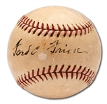 FORD FRICK SINGLE SIGNED ONL (FRICK) BASEBALL