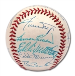500 HOME RUN CLUB MULTI-SIGNED BASEBALL WITH (13) AUTOGRAPHS INCL. MURRAY AND BONDS