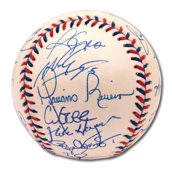 1997 AMERICAN LEAGUE ALL-STAR TEAM SIGNED OML ALL-STAR GAME BASEBALL