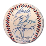 1996 NATIONAL LEAGUE ALL-STAR TEAM SIGNED OML ALL-STAR GAME BASEBALL