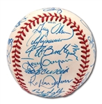 1990 NATIONAL LEAGUE ALL-STAR TEAM SIGNED OML ALL-STAR GAME BASEBALL