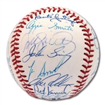 1991 NATIONAL LEAGUE ALL-STAR TEAM SIGNED ONL (WHITE) BASEBALL
