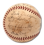 1937 NEWARK BEARS INTERNATIONAL LEAGUE (YANKEES) CHAMPIONS TEAM SIGNED ONL (FRICK) BASEBALL - GREATEST MINOR LEAGUE TEAM EVER (PINSTRIPE DYNASTY)