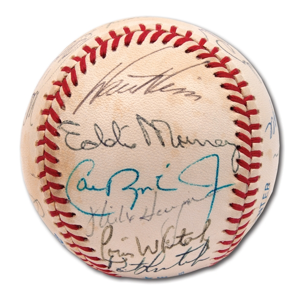 MLB ROOKIES OF THE YEAR MULTI-SIGNED BASEBALL