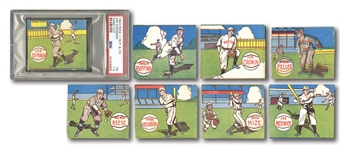 1943 M.P. & Co. R302-1 NEAR SET (17/24) WITH 9 HOFERS INCL. PSA GRADED JOE DiMAGGIO