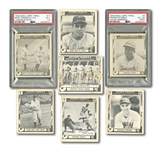 "1948 SWELL GUM ""SPORTS THRILLS"" LOT OF (6) INCL. PSA GRADED #3 JACKIE ROBINSON RC (DRAMATIC DEBUT) PLUS ""BABE RUTH STORY"" PARTIAL SET (11/28)"