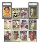 1957 TOPPS STARTER SET (31/407) INCL. PSA GRADED MANTLE (VG-EX 4) & B.ROBINSON ROOKIE (EX 5)