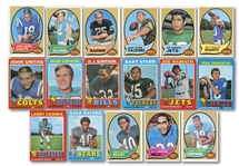 1970 AND 1971 TOPPS FOOTBALL COMPLETE SETS MINUS #156 BRADSHAW ROOKIE