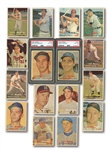 1957 TOPPS BASEBALL PARTIAL SET (196/411) PLUS 254 DUPLICATES - 450 TOTAL CARDS