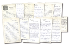 1940-41 RABBIT MARANVILLE COLLECTION OF (12) HANDWRITTEN & SIGNED LETTERS AS MANAGER OF SPRINGFIELD NATIONALS PLUS ADDITIONAL DOCS/CORRESPONDENCE