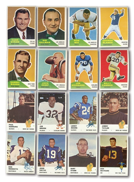 1960 AND 1961 FLEER FOOTBALL COMPLETE SETS