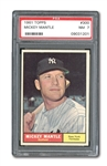 1961 TOPPS #300 MICKEY MANTLE PSA NM 7
