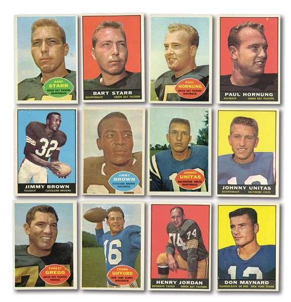 1960 AND 1961 TOPPS FOOTBALL COMPLETE SETS
