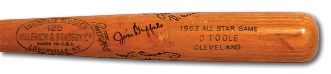 JIM O'TOOLE 1963 ALL-STAR GAME ISSUED BAT SIGNED BY 1963 N.L. ALL-STAR TEAM MEMBERS INCL. CLEMENTE