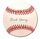 "MARK KOENIG SINGLE SIGNED BASEBALL - LAST SURVIVING ""MURDERERS ROW"" MEMBER (PINSTRIPE DYNASTY COLLECTION)"