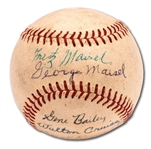 FRITZ AND GEORGE MAISEL AUTOGRAPHED BASEBALL WITH OTHERS