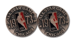RED HOLZMANS 1973 NBA ALL-STAR GAME CUFFLINKS (HOLZMAN COLLECTION)