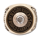 RED HOLZMANS 1970 NEW YORK KNICKS NBA WORLD CHAMPIONS 14K GOLD RING (HOLZMAN COLLECTION)