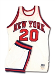 1975-76 GENE SHORT NEW YORK KNICKS GAME WORN HOME UNIFORM (RED HOLZMAN COLLECTION)