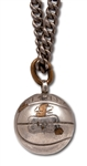 RED HOLZMANS 1942 CITY COLLEGE OF NEW YORK BEAVERS BASKETBALL CHARM WITH CHAIN (HOLZMAN COLLECTION)