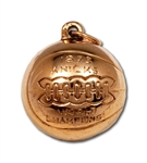 RED HOLZMANS 1973 NEW YORK KNICKS NBA WORLD CHAMPIONS 14K GOLD FOB/CHARM (HOLZMAN COLLECTION)