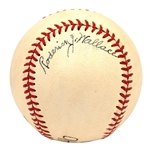 RODERICK WALLACE AND ED WALSH DUAL-SIGNED VINTAGE BASEBALL (PSA/DNA NM 7 OVERALL)