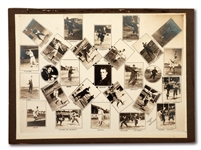 1907 NEW YORK HIGHLANDERS LARGE TEAM COMPOSITE MOUNTED PHOTO DISPLAY