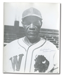 SCARCE WILLIE WELLS (NEGRO LEAGUER) SIGNED PHOTOGRAPH