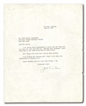 1937 JOE TINKER TYPED SIGNED LETTER TO FORD C. FRICK