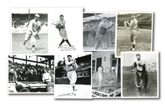 LOT OF (8) SCARCE PRE-WAR HOFER AUTOGRAPHED PHOTOS INCL. TRAYNOR, HOOPER, MEDWICK, ROUSH, CRAWFORD, ETC.