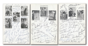 1962, 1964 AND 1965 MULTI-SIGNED NATIONAL BASEBALL PLAYERS GOLF CHAMPIONSHIP PROGRAMS INCL. JACKIE ROBINSON (TWICE), JIMMIE FOXX, MICKEY MANTLE, PAUL WANER, ETC.